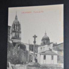 Postales: ANTIGUA POSTAL DE SALAMANCA. PUERTA DEL RIO. ED. TALAVERA. SIN CIRCULAR. Lote 43841429