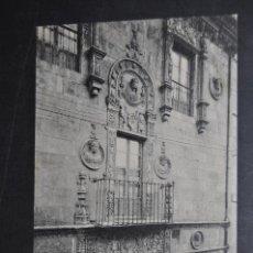 Postales: ANTIGUA POSTAL DE SALAMANCA. FACHADA, CASA DE LAS MUERTES. FOTPIA. THOMAS. SIN CIRCULAR. Lote 43888541