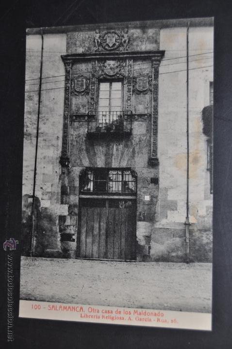 ANTIGUA POSTAL DE SALAMANCA. OTRA CASA DE LOS MALDONADO. FOTPIA. THOMAS. SIN CIRCULAR (Postales - España - Castilla y León Antigua (hasta 1939))