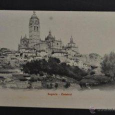 Postales: ANTIGUA POSTAL DE SEGOVIA. LA CATEDRAL. SIN CIRCULAR. Lote 43969850