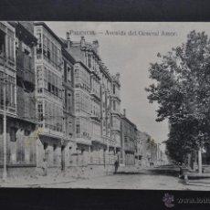 Postales: ANTIGUA POSTAL DE PALENCIA. AVENIDA DEL GENERAL AMOR. ED. Y FOT. ALONSO. CIRCULADA. Lote 44169317