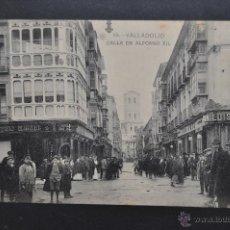 Postales: ANTIGUA POSTAL DE VALLADOLID. CALLE DE ALFONSO XII. FOTPIA. HAUSER Y MENET. SIN CIRCULAR. Lote 51640469