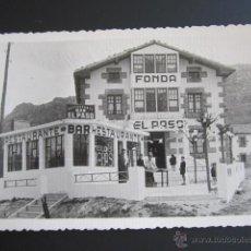 Postales: POSTAL BURGOS. RESTAURANTE EL PASO. POSTAL PUBLICITARIA. REVERSO VER FOTOS. CABAÑAS DE VIRTUS. . Lote 44401209