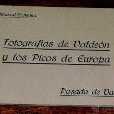 Postales: POSTALES DE VALDEON Y LOS PICOS DE EUROPA LEON), CUADERNILLO CON 9 POSTALES, ESTAN LAS NUMERO 2 - 5 . Lote 44923477