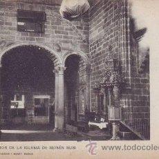 Postales: AVILA. INTERIOR DE LA IGLESIA DE MOSÉN RUBÍ. A. CÁNOVAS FOT.. Lote 45116807