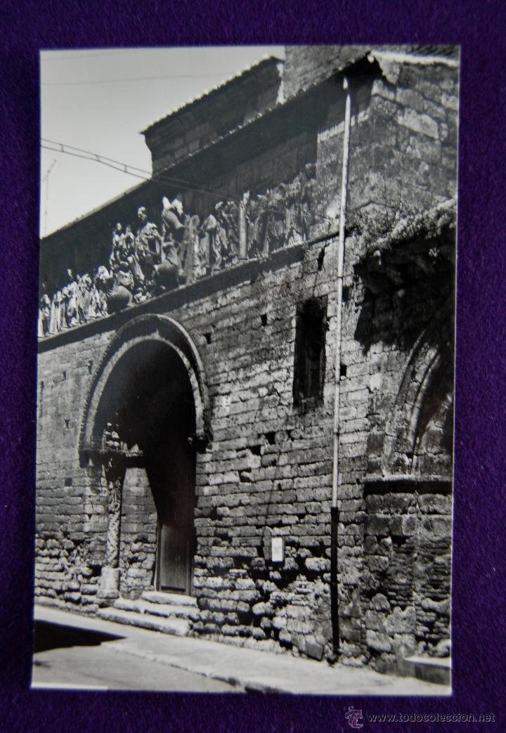 POSTAL DE CARRION DE LOS CONDES (PALENCIA). Nº5 PORTADA DE SANTIAGO. EDIC SICILIA. AÑOS 50. (Postales - España - Castilla y León Moderna (desde 1940))