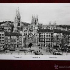 Postales: ANTIGUA FOTO POSTAL DE BURGOS. VISTA PARCIAL. CIRCULADA. Lote 45343415