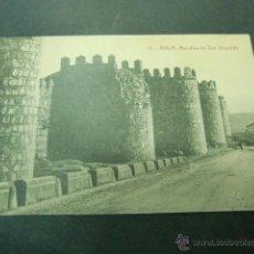 Postales: AVILA MURALLAS DE SAN SEGUNDO. Lote 45364263