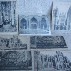 Postales: LOTE DE 7 POSTALES: CATEDRAL DE LEÓN. Lote 45576879