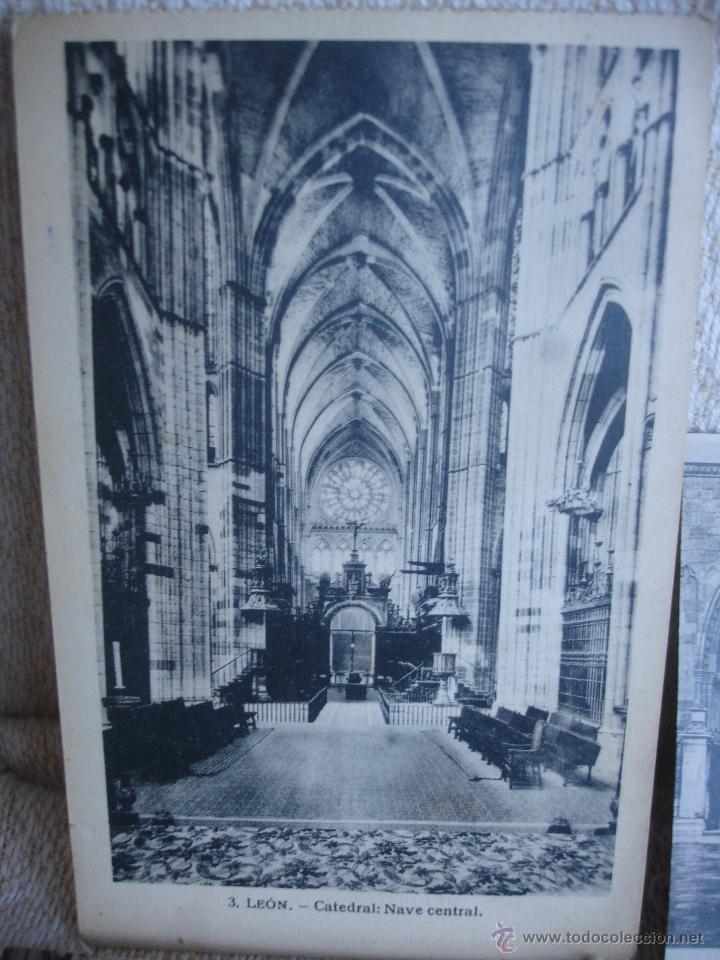 Postales: Lote de 7 postales: Catedral de León - Foto 3 - 45576879