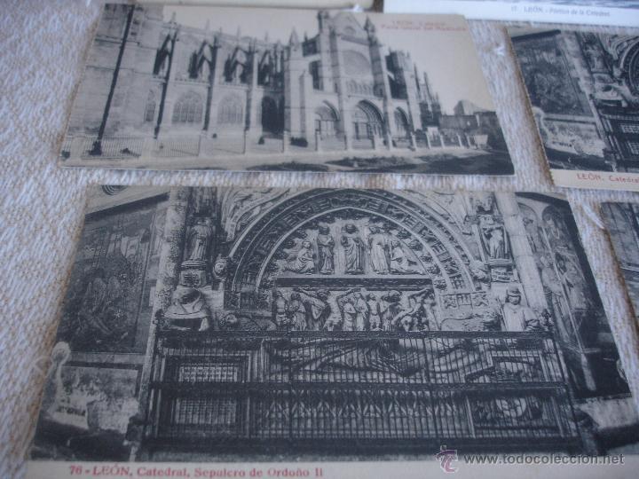 Postales: Lote de 7 postales: Catedral de León - Foto 4 - 45576879