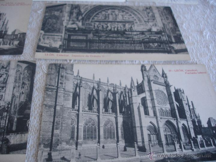 Postales: Lote de 7 postales: Catedral de León - Foto 5 - 45576879