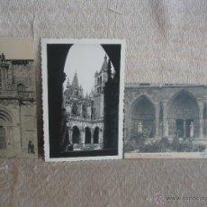 Postales: LOTE 3 POSTALES DE LA CATEDRAL DE LEÓN. Lote 45577506