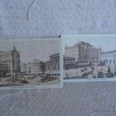 Postales: LOTE DOS POSTALES: PLAZA SANTO DOMINGO Y SAN MARCELO (LEÓN). Lote 45577698
