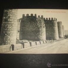 Postales: AVILA MURALLAS DE SAN SEGUNDO. Lote 45677820