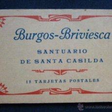 Postales: BURGOS - BRIVIESCA. SANTUARIO DE SANTA CASILDA. 14 TARJETAS POSTALES. Lote 45714754