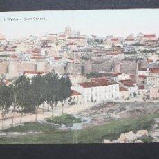 Postales: ANTIGUA POSTAL DE ÁVILA. VISTA GENERAL. ESCRITA. Lote 48657363