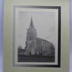 Postales: FOTOGRAFIA DE LA IGLESIA DE LA VIRGEN DEL ROSARIO EN NOCECO (BURGOS), SE CONSTRUYÓ EL AÑO 1906. COST. Lote 46090241