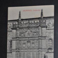 Postales: ANTIGUA POSTAL DE SALAMANCA. UNIVERSIDAD. ED. M. ROMERO. FOTPIA. CASTAÑEIRA. CIRCULADA. Lote 46204824