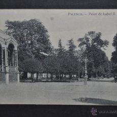 Postales: ANTIGUA POSTAL DE PALENCIA. PASEO DE ISABEL II. EDICION Y FOTO ALONSO. ESCRITA. Lote 46245993