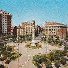 Postales: Nº 18448 POSTAL LEON PLAZA CALVO SOTELO Y MONUMENTO A LA INMACULADA. Lote 46447158