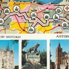 Cartes Postales: Nº 21402 POSTAL ASTORGA LEON MAPA . Lote 47119473