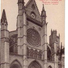 Postales: Nº 1706 POSTAL CATEDRAL DE LEON FACHADA DEL MEDIODIA L ROISIN. Lote 47260345