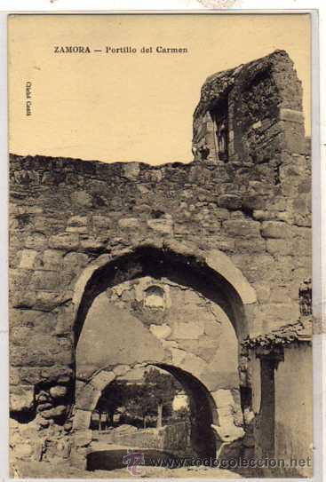 ZAMORA. PORTILLO DEL CARMEN. CLICHE CONTI. SALVADOR ALVAREZ. GRAN BAZAR. (Postales - España - Castilla y León Antigua (hasta 1939))