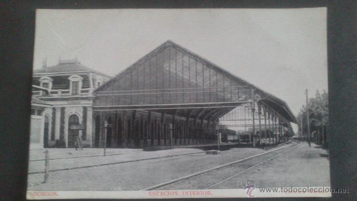 BURGOS, ESTACION INTERIOR, COLECCION GARCIA (Postales - España - Castilla y León Antigua (hasta 1939))