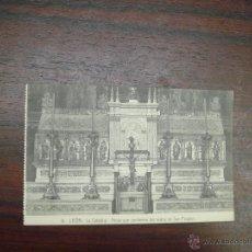 Postales: ANTIG POSTAL LEON.LA CATEDRAL. ARCAS CON LOS RESTOS DE SAN FROILAN. Nº8. EDIC.FOT.GRACIA.S/CIRCULAR. Lote 47710968