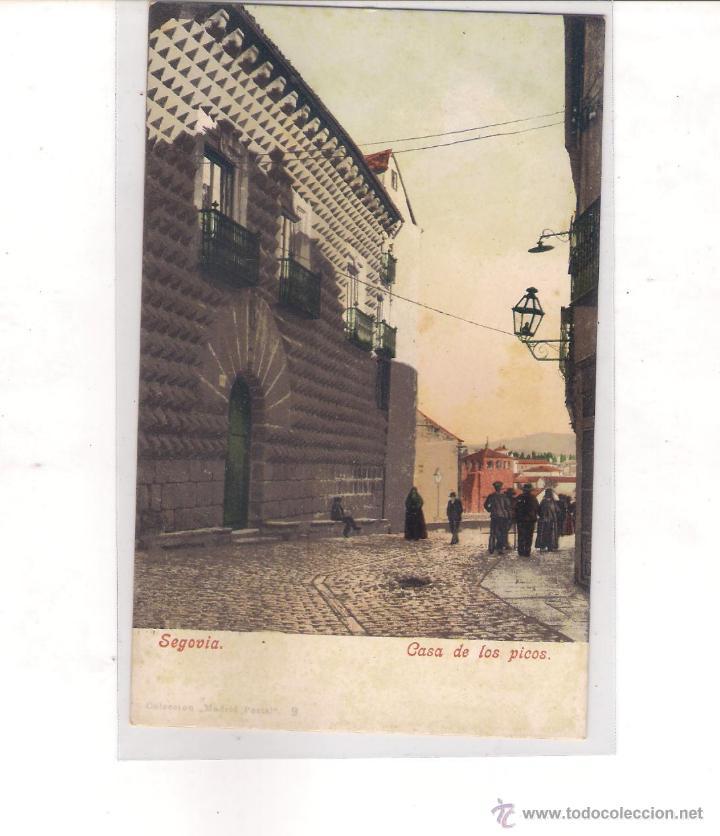 POSTAL DE SEGOVIA - CASA DE LOS PICOS - (Postales - España - Castilla y León Moderna (desde 1940))