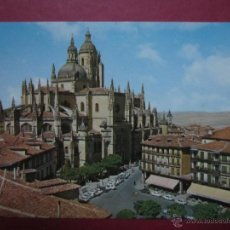 Postales: SEGOVIA. PLAZA DEL GENERAL FRANCO Y CATEDRAL. (ED. GARRABELLA Nº95).. Lote 47851648