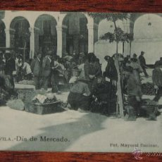 Postales: POSTAL DE AVILA, DIA DE MERCADO, N. 40, FOTOGRAFÍA MAYORAL ENCINAR, EDITADO POR GRAFOS (Nº 40), NO C. Lote 47916619