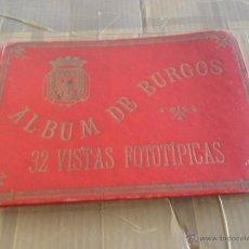Postales: ALBUM DE BURGOS 32 VISTAS FOTOTIPICAS GAVINETE FOTOGRAFICO JULIO MONTES PLAZA MAYOR. Lote 47930801