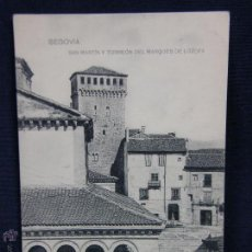 Cartoline: POSTAL SEGOVIA SAN MARTIN Y TORREÓN DEL MARQUÉS DE LOZOYA ED FOTOTIPIA DE HAUSER Y MENET. Lote 48254253