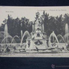 Postales: POSTAL SIN CIRCULAR LA GRANJA FUENTE DE LAS RANAS ED FOTOTÍPIA J. ROIG BAZAR BRUN. Lote 48258943