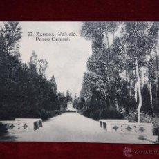 Postales: ANTIGUA POSTAL DE ZAMORA. VALORIO, PASEO CENTRAL. COLECCIÓN S. GARCÍA VILAPLANA. SIN CIRCULAR. Lote 48374297