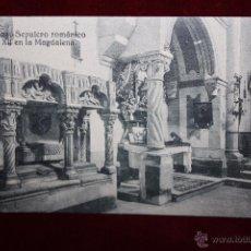 Postales: ANTIGUA POSTAL DE ZAMORA. SEPULCRO ROMÁNICO DEL SIGLO XII EN LA MAGDALENA. SIN CIRCULAR. Lote 48374378