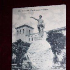 Postales: ANTIGUA POSTAL DE ZAMORA. ESTÁTUA DE VIRIATO. COLECCIÓN S. GARCÍA VILAPLANA. SIN CIRCULAR. Lote 48374649