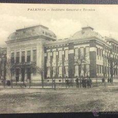 Postales: PALENCIA. INSTITUTO GENERAL Y TECNICO. FOTO. ALONSO. . Lote 48913642