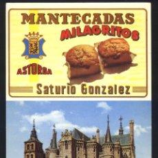 Postales: L-0341- LEÓN. ASTORGA. MANTECADAS MILAGRITOS. PALACIO EPISCOPAL (GAUDI). Lote 186332247