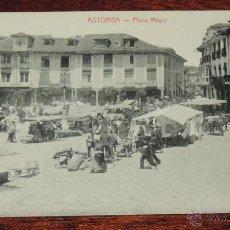 Postales: ASTORGA (LEON) PLAZA MAYOR, POSTALES ORTIZ, SIN CIRCULAR. Lote 49015812