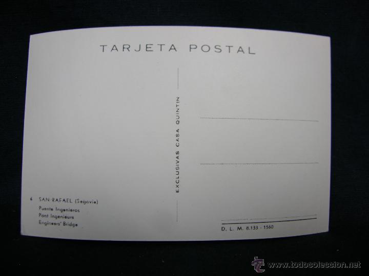 Postales: postal 6 san rafael segovia puente ingenieros coloreada no circulada exclusivas casa quintin - Foto 2 - 49122089