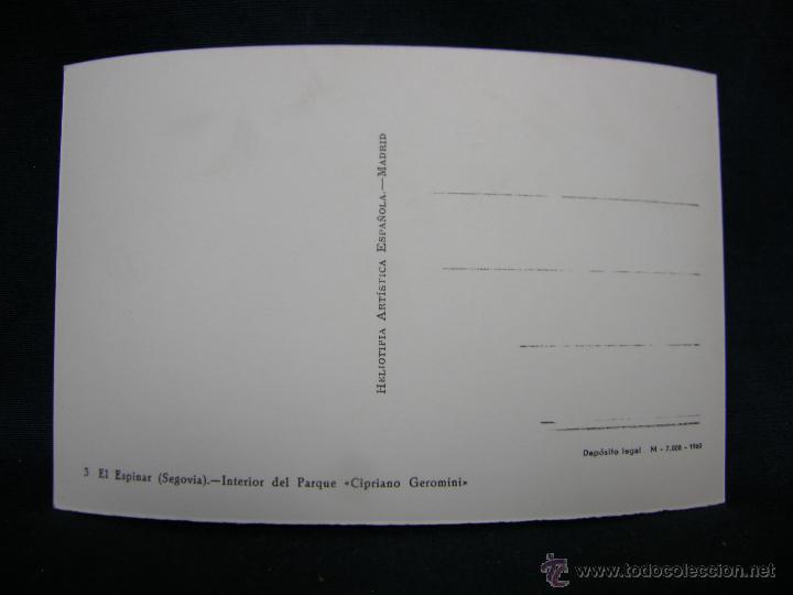 Postales: postal 3 el espinar segovia interior parque cipriano geromini H Artistica Española no circulada - Foto 2 - 49122276