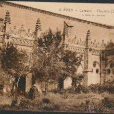 Postales: ÁVILA.CATEDRAL.CLAUSTRO ( SIGLO XIV ).Nº 9.ED.L.ROISIN.CIRCULADA.. Lote 49842042