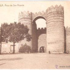 Postales: AVILA ARCO DE SAN VICENTE. Lote 2897125