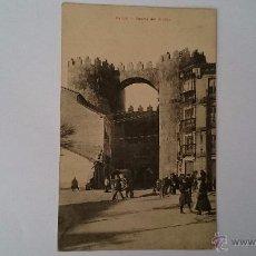 Postales: TARJETA POSTAL AVILA PUERTA DEL ALCÁZAR - CIRCULADA 1910. Lote 50280464