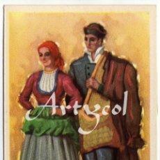 Postales: PRECIOSA POSTAL - BURGOS - PAREJA ATAVIADOS CON TIPICO TRAJE REGIONAL. Lote 50378432