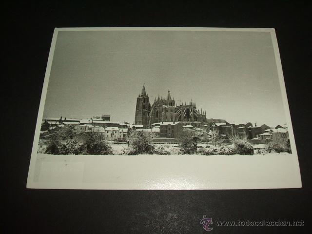LEON VISTA DE LA CIUDAD NEVADA FOTOGRAFIA 14,5 X 10,5 CMTS (Postales - España - Castilla y León Antigua (hasta 1939))