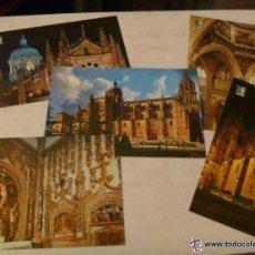 Postales: LOTE DE 5 POSTALES DISTINTAS DE LA CATEDRAL NUEVA DE SALAMANCA .. Lote 50704598